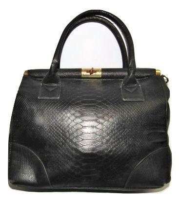 womens 90's original vintage leather clutch bag