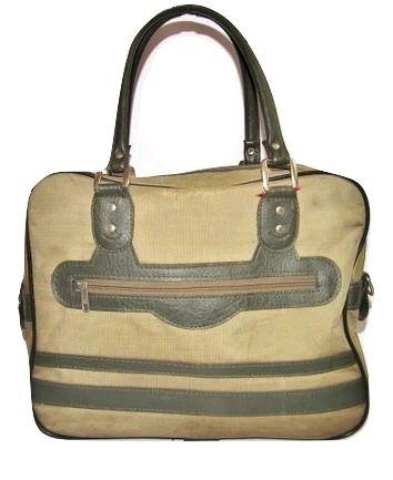 mens oldskool vintage green carry bag