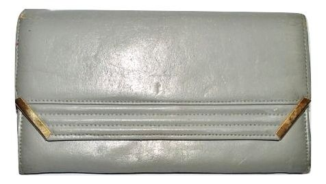 vintage 1980's original leather clutch handbag