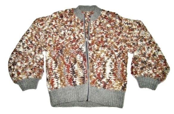 vintage handmade chunky knitt cardigan size medium