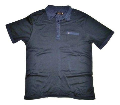 true vintage farah polo shirt navy size XL
