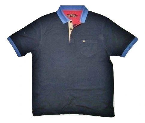 vintage navy blue farah polo shirt size M-L