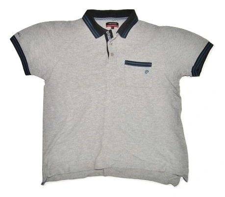 vintage pierre cardin grey polo shirt size S-M