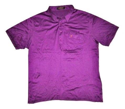 vintage farah polo shirt purple size large
