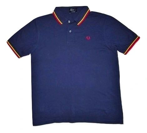 classic fred perry polo tshirt blue size XL