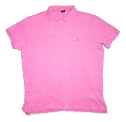 mens classic ralph lauren polo tshirt pink size xlarge