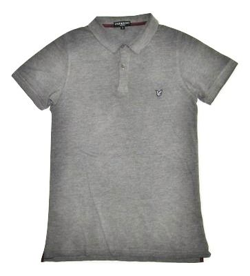 lyle and scott grey polo shirt size small