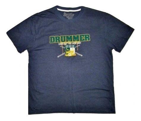mens vintage drummer tshirt size M-L