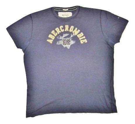 mens abercrombie tshirt blue size large