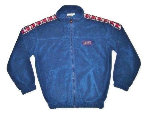 true vintage 90's ellesse fleece jacket size S-M