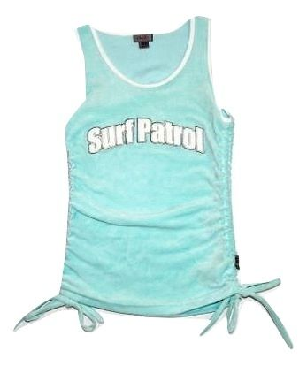 womens velour surf patrol vest size 10