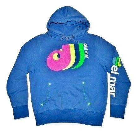 oldskool vintage del mar hoodie blue size M-L