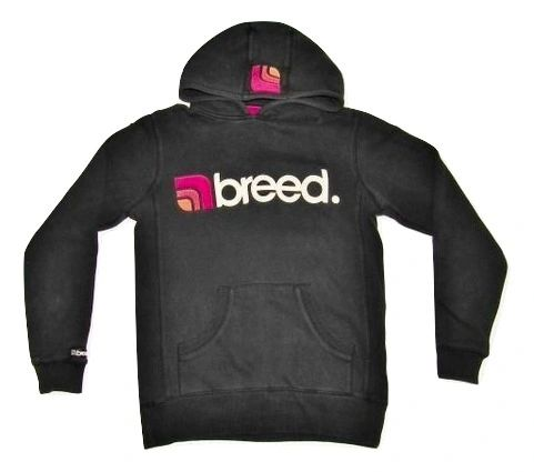 oldskool vintage breed hoodie black size medium