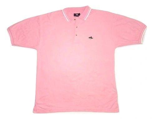 vintage le shark polo shirt pink size L