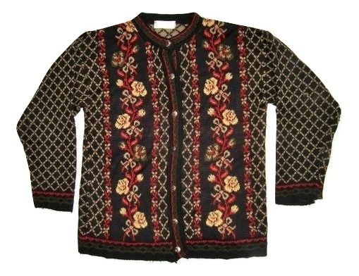 womens True vintage 80's cardigan size L