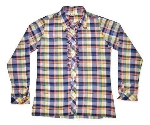 womens vintage cowboy ruffle blouse size 10