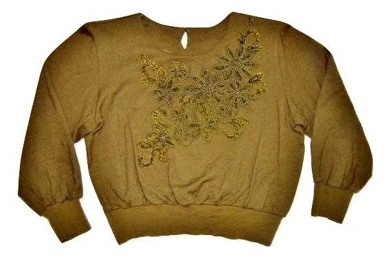 womens vintage flower blouse size medium
