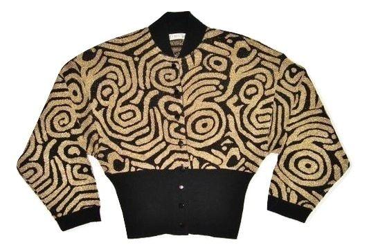 80's vintage batwing disco jumper size S-M