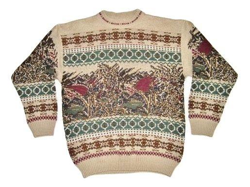 mens 80's oldskool knitted jumper size M-L