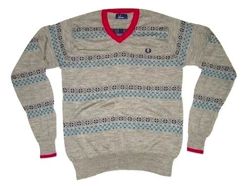 slim fit fred perry stretch wool jumper size medium