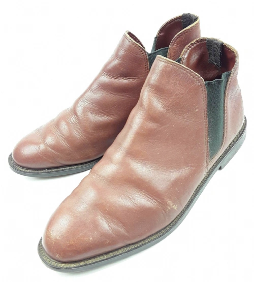 mens 90's quality leather ankle boots UK9