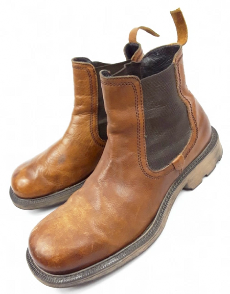 mens chunky leather ankle boots size UK 11