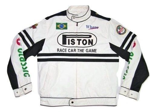 mens rare vintage racing jacket cotton size UK L