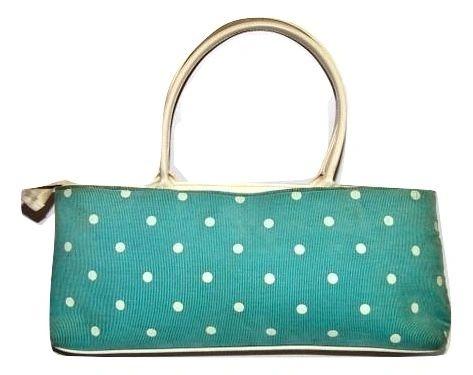vintage pokadot handbag
