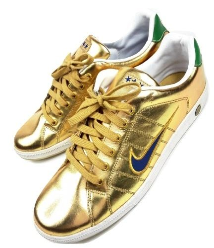 mens true vintage limited in 2007 nike gold trainers size uk 11
