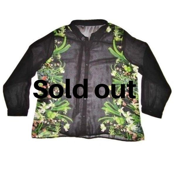 womens retro chiffon blouse UK XL 16-18