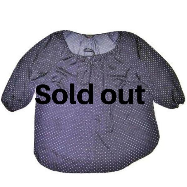 womens chiffon blouse blue spot size 22