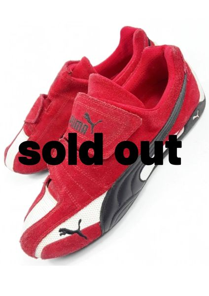 on sale bb70e 7a5d6 true vintage puma red suede trainers, size uk 9 issued 2005