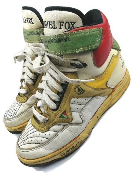 1993 true vintage travel fox leather hightops size UK 6.5