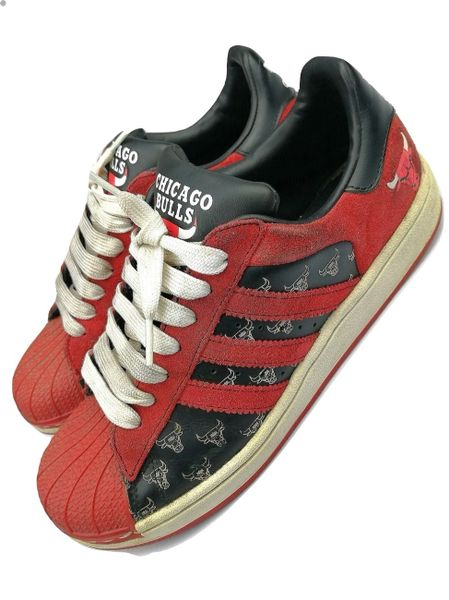womens vintage adidas superstars limited edition chicago bulls uk 5.5 issued 2007