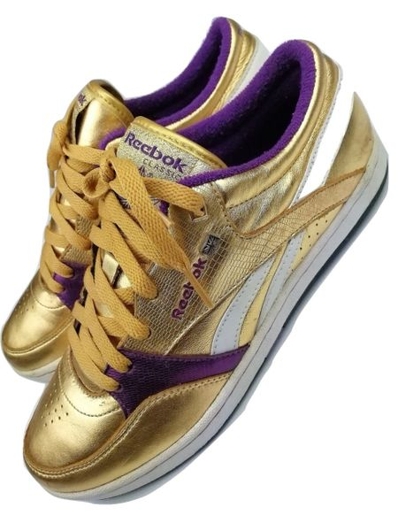 limited edition reebok gold rush sneakers size uk 6