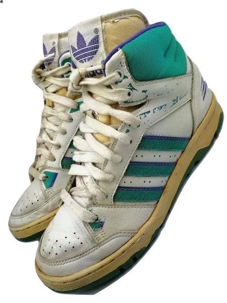 1989 deadstock vintage adidas torsion hightops UK 6