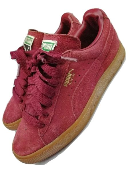 women's vintage puma all red trainers size uk 4 limited colorway 2006