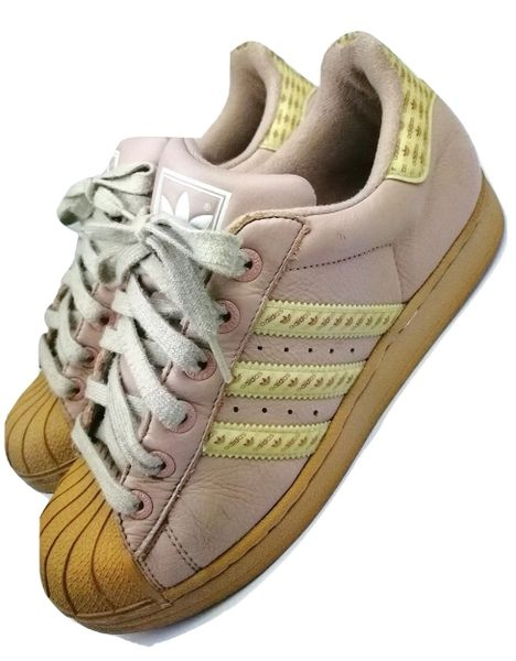 2003 true vintage adidas superstar sneakers size uk 7.5