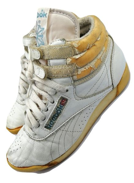True vintage classics Reebok freestyle womens high tops, trainers size UK 4 issued 1994