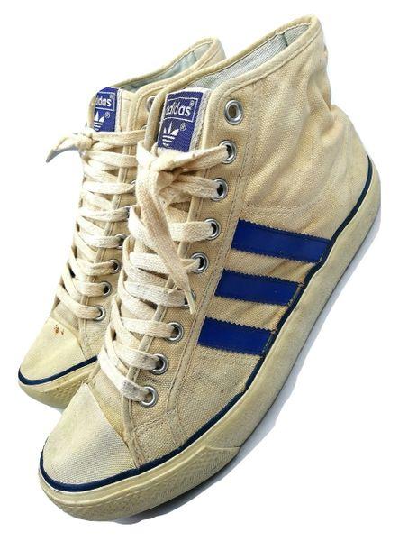1983 original classic adidas hightop trainers size UK 6