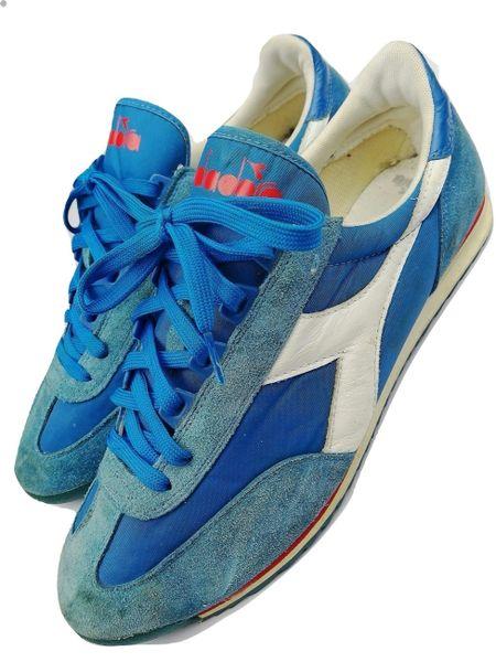 Diadora mens retro blue suede trainers 2009 size 11