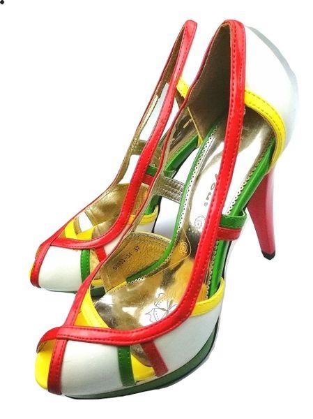 SIZE 4 Limited retro multi heels 2004