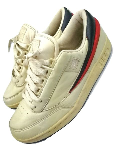 True vintage Fila T-1 tennis trainers, UK 7