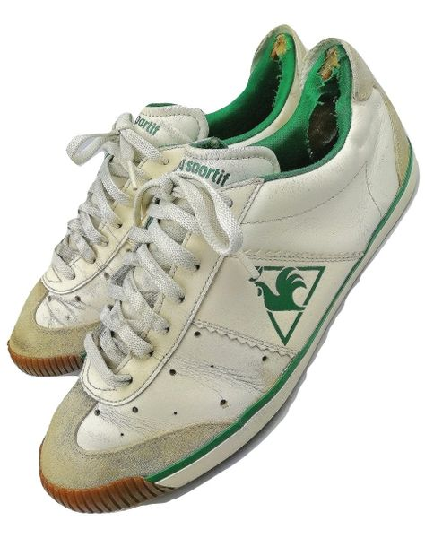 true vintage le coq sportif mens trainers sneakers size uk 8 issued around 2004