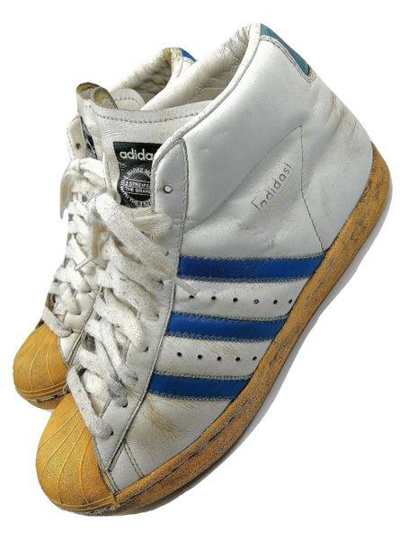 2005 true vintage adidas pro model superstars hightops uk 10