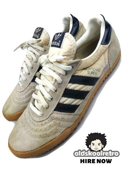 1988 true vintage adidas tischtennis trainers UK 9