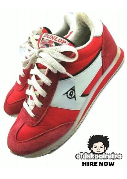 true vintage dunlop classic trainers 1984 size uk 6.5