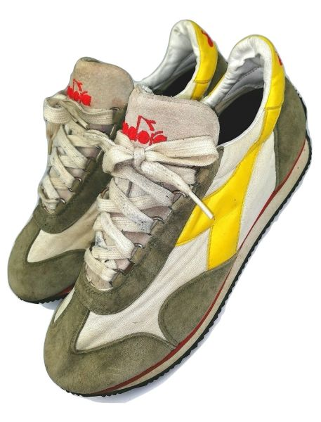 true vintage diadora trainers size uk 10 issued 2001