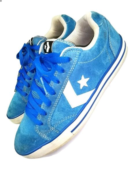 vintage converse mens trainers one star blue suede size uk 7