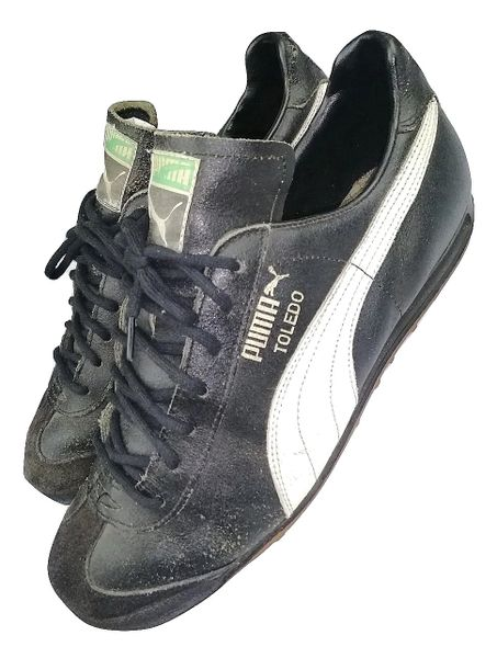 true vintage original puma toledo trainers issued 1988, size uk 9